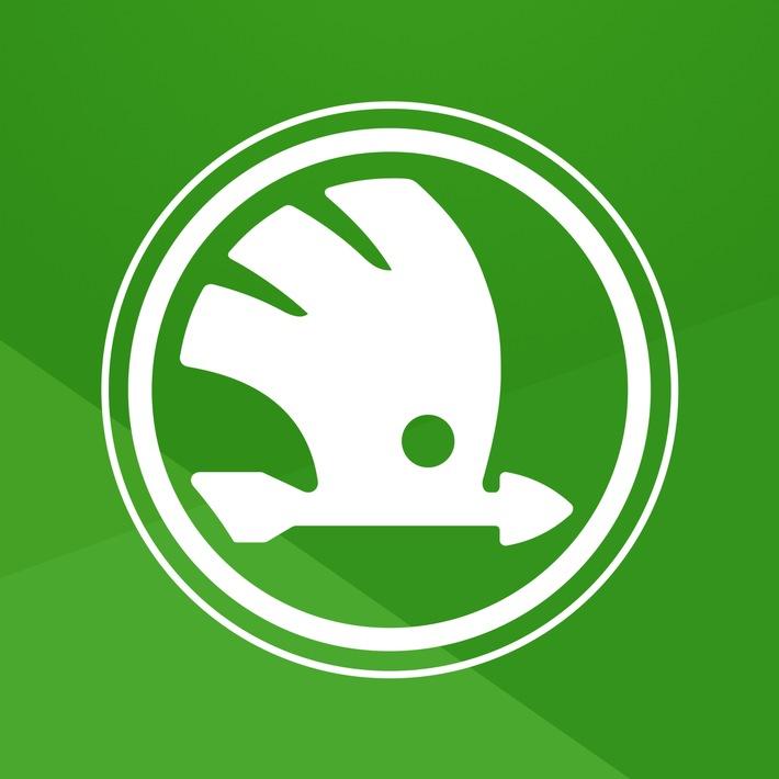 Das neue MySKODA App Logo: Die neue MySKODA App bietet nun in einer Anwendung sämtliche Möglichkeiten der beiden vorherigen Apps und ermöglicht ein einheitliches Nutzererlebnis auf Smartphones, Smartwatches (nur mit iOS) und auf dem zentralen Display des Infotainmentsystems im Fahrzeug. / Weiterer Text über ots und www.presseportal.de/nr/28249 / Die Verwendung dieses Bildes ist für redaktionelle Zwecke honorarfrei. Veröffentlichung bitte unter Quellenangabe: