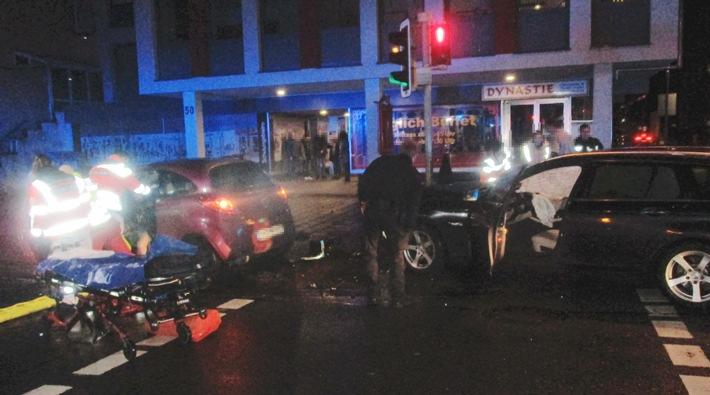 Unfallstelle Kaiserstraße in Hameln