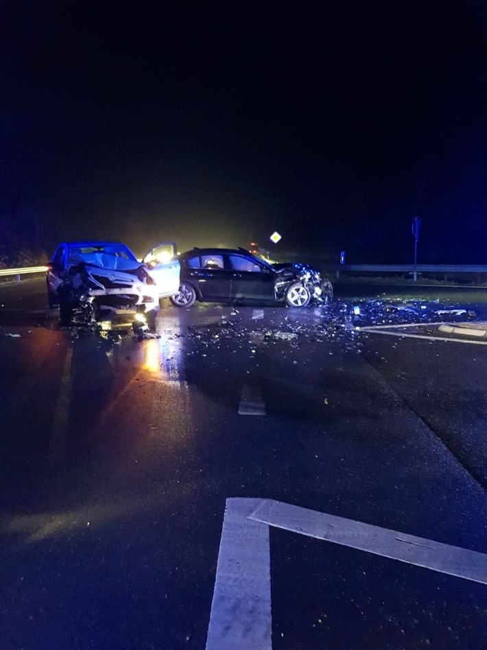 Unfallstelle auf der Landstraße 409