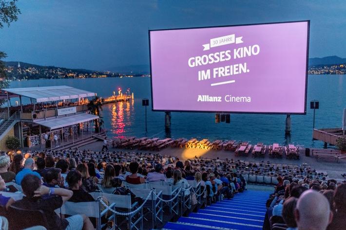 """Allianz Cinema am Zürichhorn. (PPR/Nick Soland). Weiterer Text über ots und www.presseportal.ch/de/nr/100004665 / Die Verwendung dieses Bildes ist für redaktionelle Zwecke honorarfrei. Veröffentlichung bitte unter Quellenangabe: """"obs/Allianz Cinema/Nick Soland"""""""