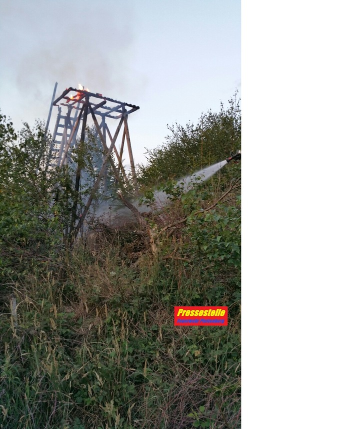 Ein Übergreifen der Flammen auf das Waldgebiet konnte verhindert werden