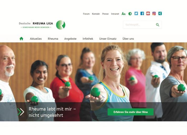 Ihre neue Website www.rheuma-liga.de hat die Deutsche Rheuma-Liga am 30.9.2019 online gestellt. Auf der Startseite wird die Geschichte von Nina erzählt, einer jungen engagierten Frau, die an Rheuma erkrankt ist. *Abdruck erlaubt - Beleg erbeten. Weitere Bildmotive aus den Fotoshootings für die neue Website unter www.rheuma-liga.de/bildmaterial. Weiterer Text über ots und www.presseportal.de/nr/20920 /