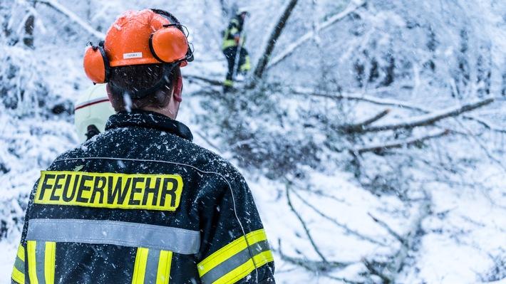 Viele der ehrenamtlichen Feuerwehrleute wurden im Umgang mit der Motorsäge ausgebildet und besitzen einen Motorsägenschein.