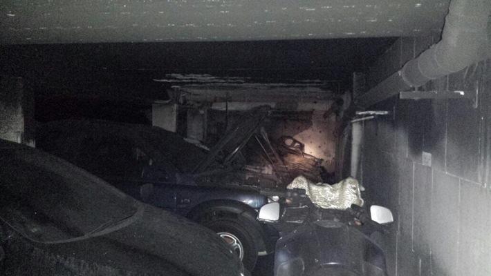 FW-HAAN: Brand in einer privaten Tiefgarage
