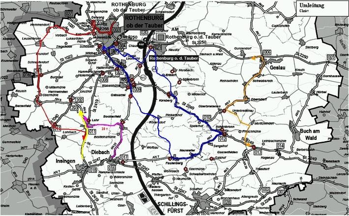 POL-MFR: (1281) 28. Int. Bayernrundfahrt vom 01. bis 03.06.2007 - Etappen im Lkrs. Ansbach