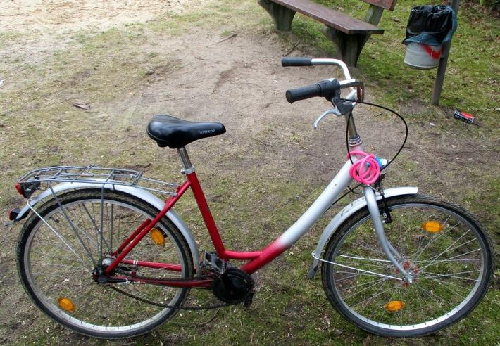 Das sichergestellte Fahrrad