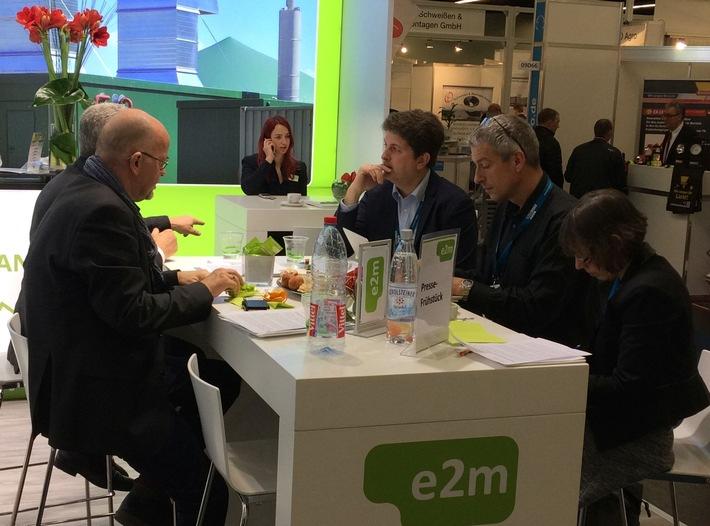Das e2m-Pressefrühstück auf der Biogas Convention nahm die erste Ausschreibungsrunde Biogas zum Anlass dieses EEG-Instrument genauer unter die Lupe zu nehmen. Weiterer Text über ots und www.presseportal.de/nr/104174 / Die Verwendung dieses Bildes ist für redaktionelle Zwecke honorarfrei. Veröffentlichung bitte unter Quellenangabe: 'obs/Energy2market GmbH'