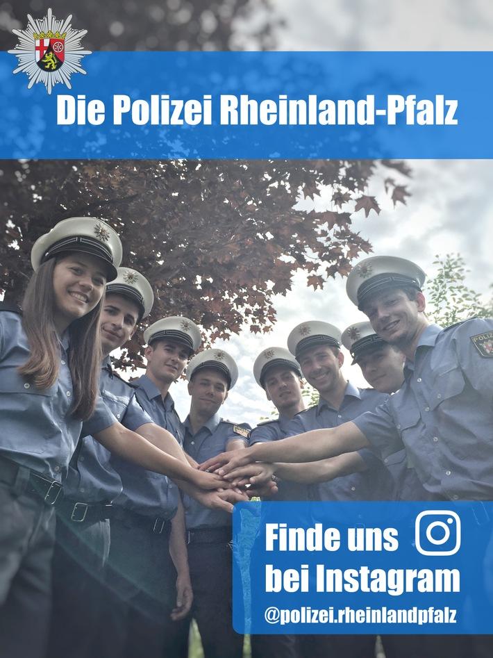 folgen sie uns auf instagram - Bewerbung Polizei Rlp