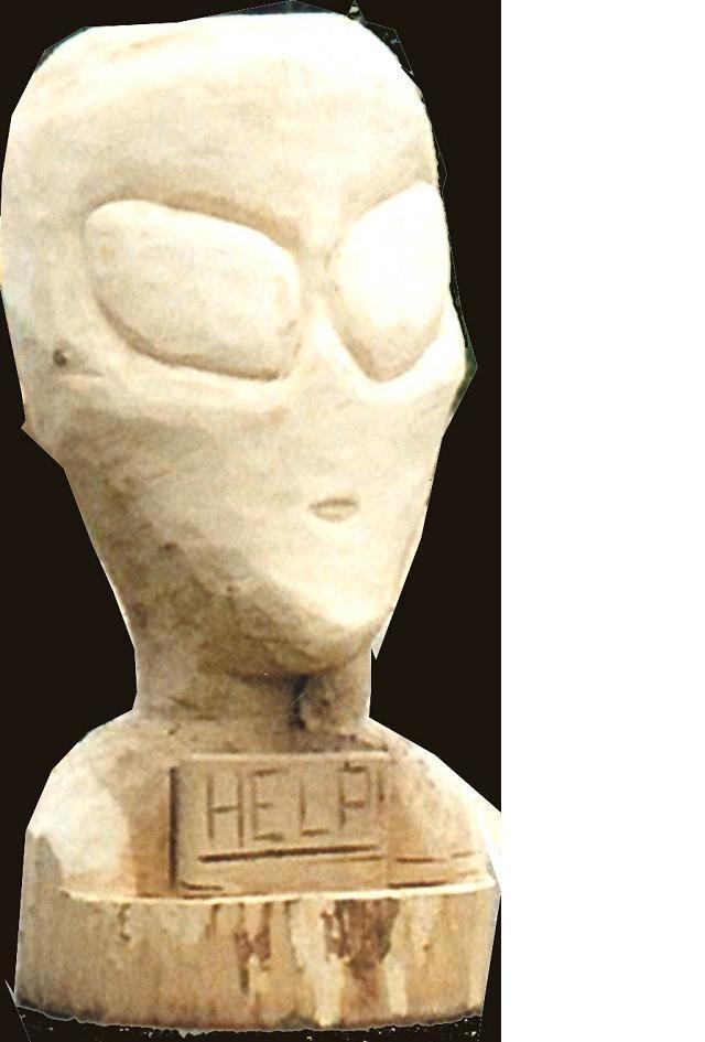 POL-DA: Alien-Kopf gestohlen