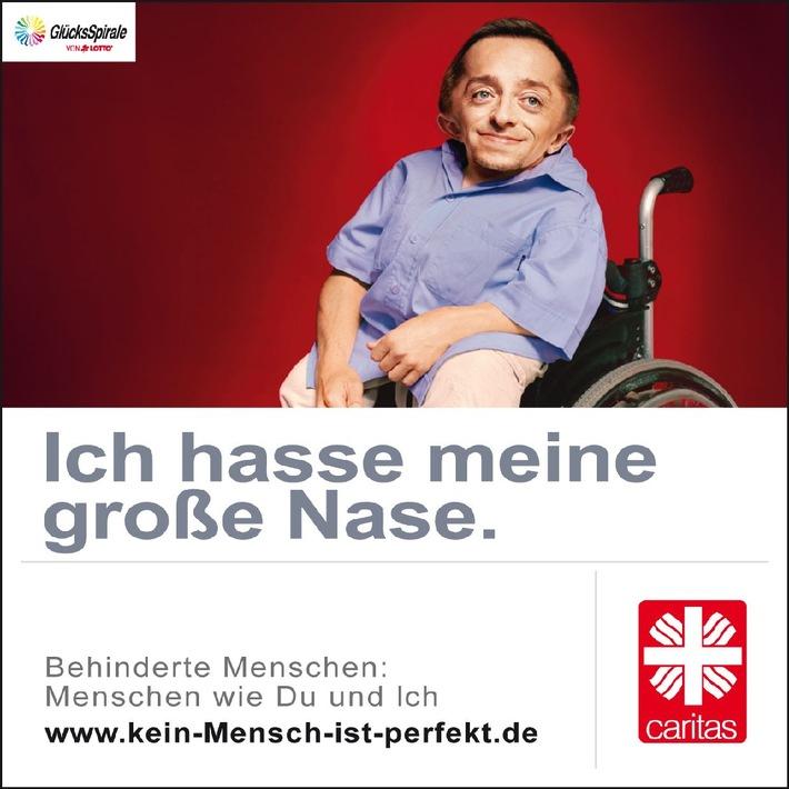 Kampagne 2011: Kein Mensch ist perfekt / Caritas macht auf Anliegen behinderter Menschen aufmerksam (mit Bild)