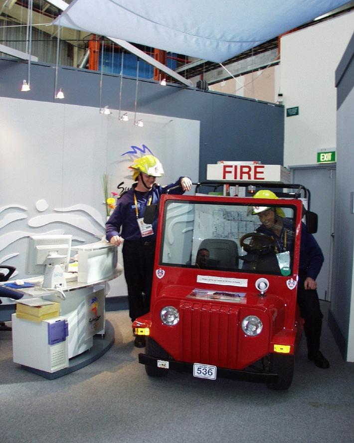 """""""Die Sirene klingt wie eine heulende Katze"""": Feuerwehr beim ARD-Olympiastudio in Sydney"""