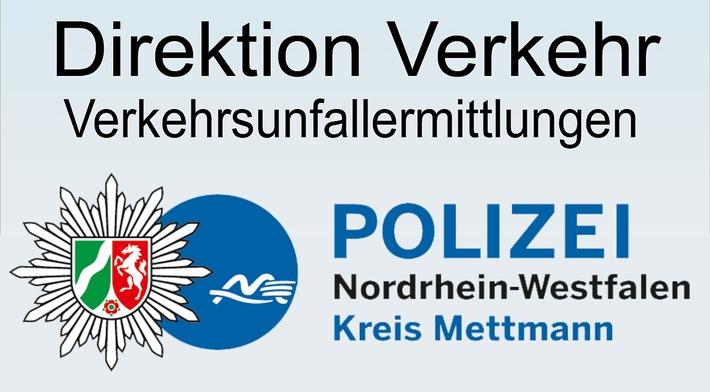 Symbolbild: Die Direktion Verkehr im Kreis Mettmann führt Ermittlungen zu Verkehrsunfallfluchten