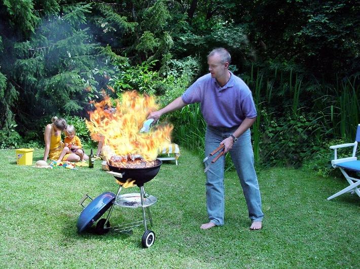 Brennender Grill