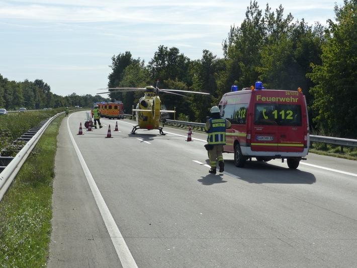 POL-CUX: Nachträgliche Medieninformation der Polizeiinspektion Cuxhaven vom 18. September 2020 - Verkehrsunfälle auf der BAB 27 - Insgesamt fünf Schwerverletzte -