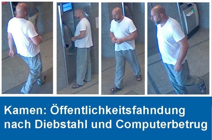 Öffentlichkeitsfahndung Diebstahl Computerbetrug Kamen am 29./30.05.2018