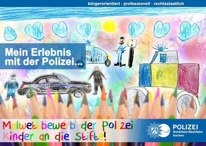 POL-AC: Aachener Polizei startet Kindermalwettbewerb zur Adventszeit: Malt uns Euer Erlebnis mit der Polizei!