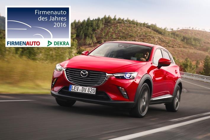 """Mazda CX-3 und Mazda6 sind """"Firmenauto des Jahres 2016"""""""