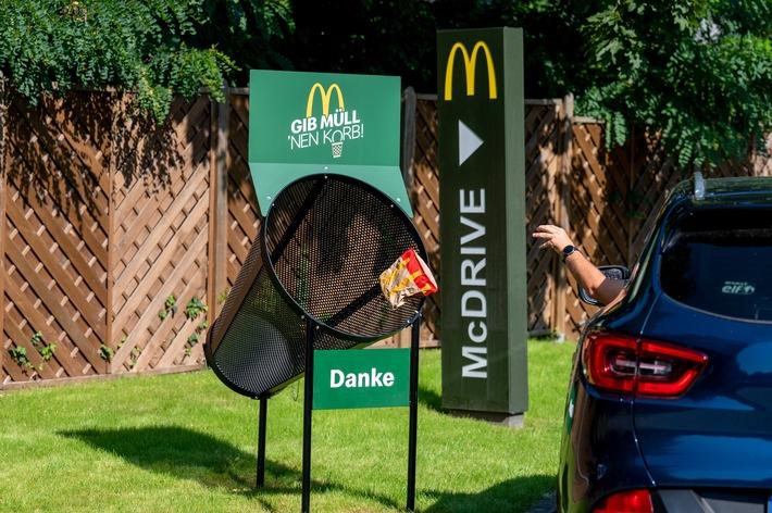 McDonalds Anti Littering Korb / Weiterer Text über ots und www.presseportal.de/nr/52942 / Die Verwendung dieses Bildes ist für redaktionelle Zwecke unter Beachtung ggf. genannter Nutzungsbedingungen honorarfrei. Veröffentlichung bitte mit Bildrechte-Hinweis.