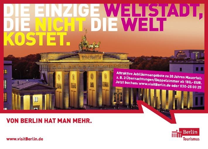 Von Berlin hat man mehr - Berlin Tourismus Marketing GmbH wirbt mit neuen Berlin-Motiven