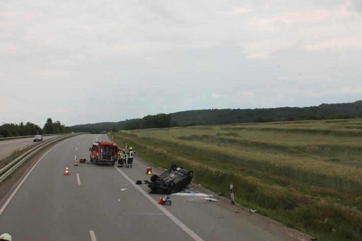 Schwerer Verkehrsunfall auf der A6 in Hettenleidelheim