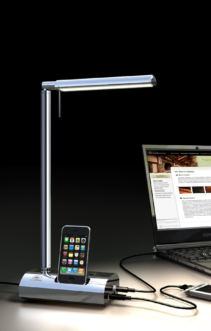 M&C launches world's first multi-charger LED desk light