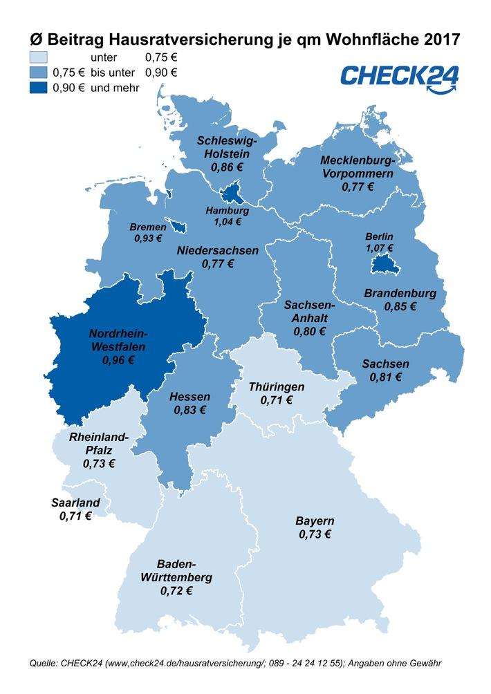 Hausratversicherung in Einbruchshochburgen oft teuer