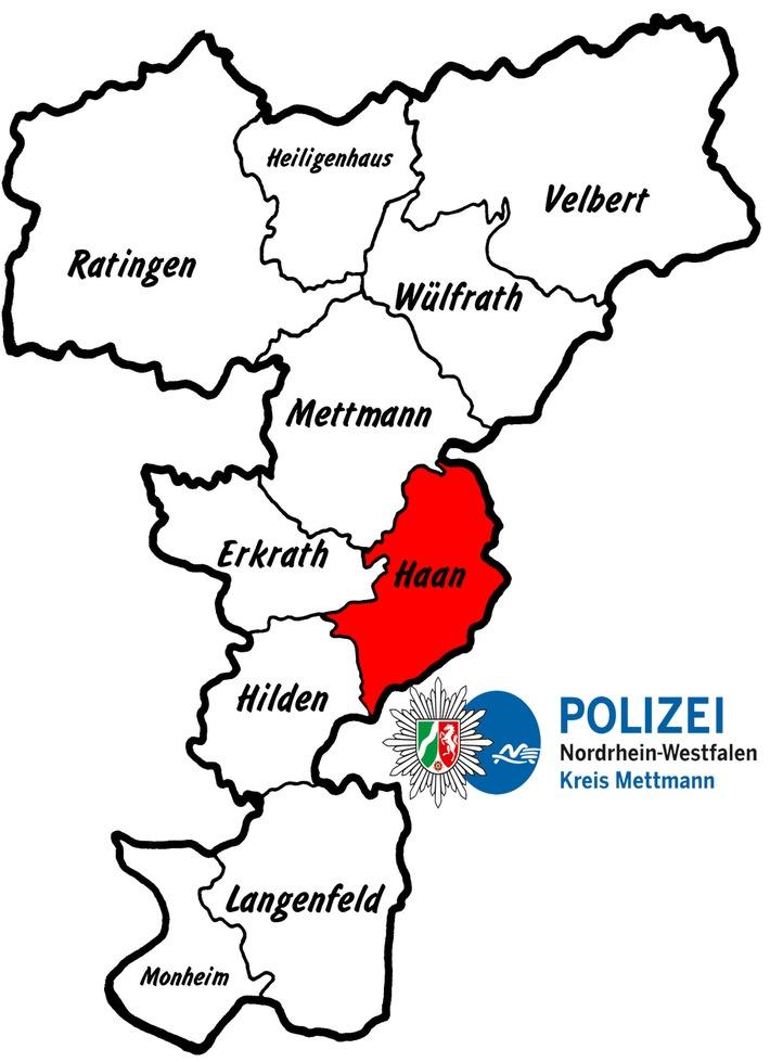 POL-ME: Alkoholisiert von der Fahrbahn abgekommen - Haan  - 1807063