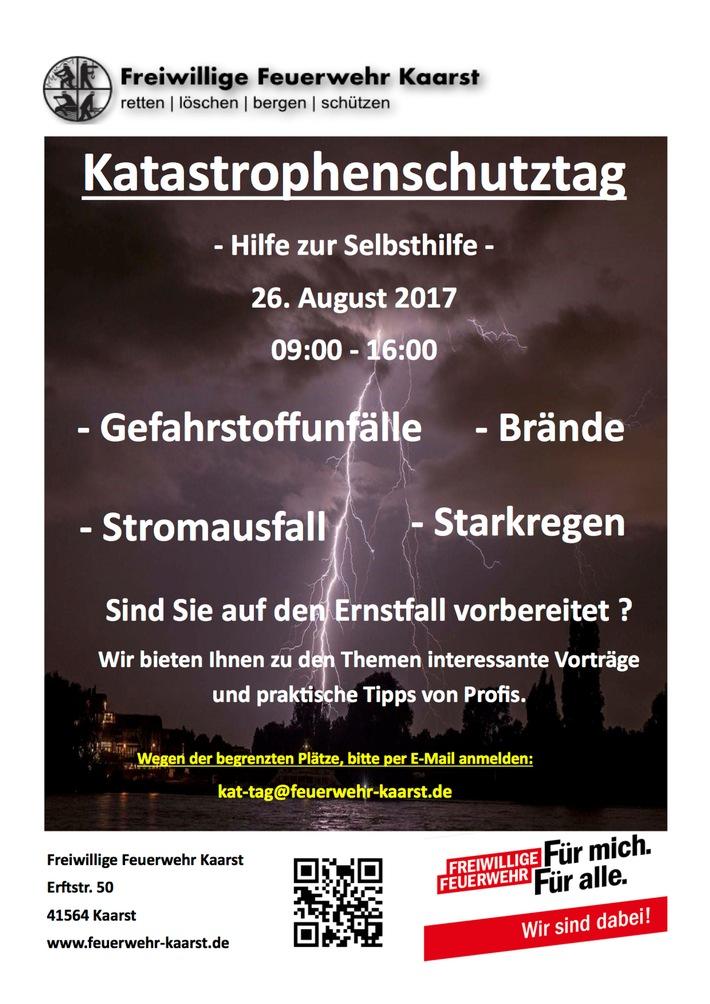 FW-NE: 1. Katastrophenschutztag der Freiwilligen Feuerwehr Kaarst am 26.08.2017