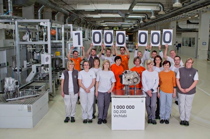 SKODA Werk Vrchlabi produziert einmillionstes DQ 200-Getriebe
