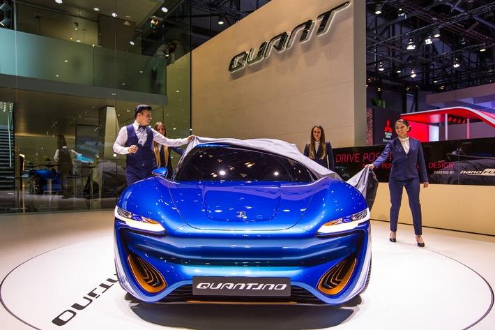 Zwei erfolgreiche Weltpremieren auf dem Genfer Auto-Salon: QUANT F und QUANTiNO beeindrucken die Messebesucher
