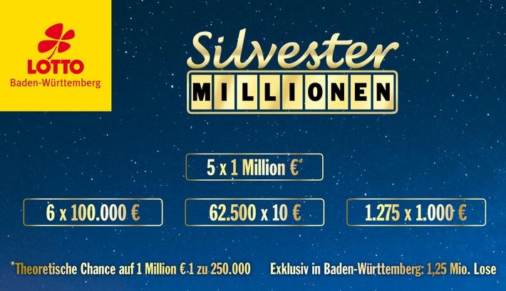 """Die neunte Auflage der Lotterie Silvester-Millionen war gefragt: Die 1,25 Mio. Lose sind erneut bereits vor Weihnachten vergriffen - und das trotz einer gegenüber dem Vorjahr erhöhten Loszahl. Weiterer Text über ots und www.presseportal.de/nr/110923 / Die Verwendung dieses Bildes ist für redaktionelle Zwecke honorarfrei. Veröffentlichung bitte unter Quellenangabe: """"obs/Staatliche Toto-Lotto GmbH Baden-Württemberg/Lotto Baden-Württemberg"""""""