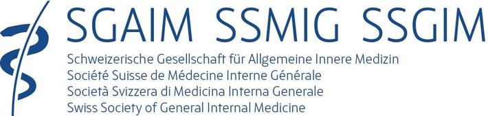 """Logo SGAIM. (Schweizerische Gesellschaft Allgemeine Innere Medizin). Weiterer Text über ots und www.presseportal.ch/de/nr/100012509 / Die Verwendung dieses Bildes ist für redaktionelle Zwecke honorarfrei. Veröffentlichung bitte unter Quellenangabe: """"obs/Schweiz. Gesellschaft für Innere Medizin - SGIM"""""""
