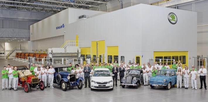 SKODA produziert 19-millionstes Fahrzeug