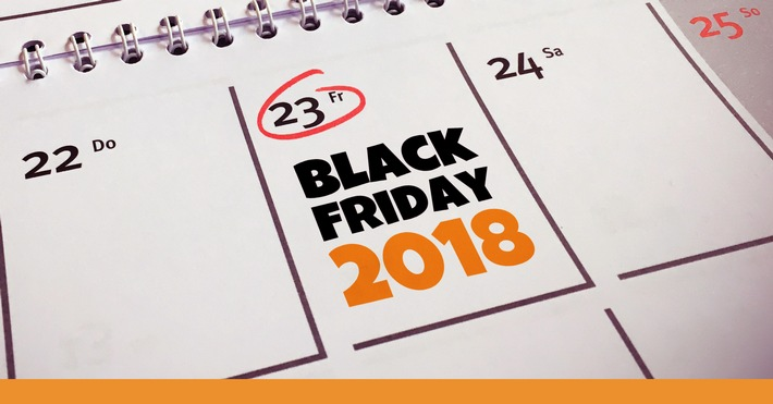 """Am 23. November ist Black Friday 2018! Weiterer Text über ots und www.presseportal.de/nr/111552 / Die Verwendung dieses Bildes ist für redaktionelle Zwecke honorarfrei. Veröffentlichung bitte unter Quellenangabe: """"obs/Black-Friday.de"""""""