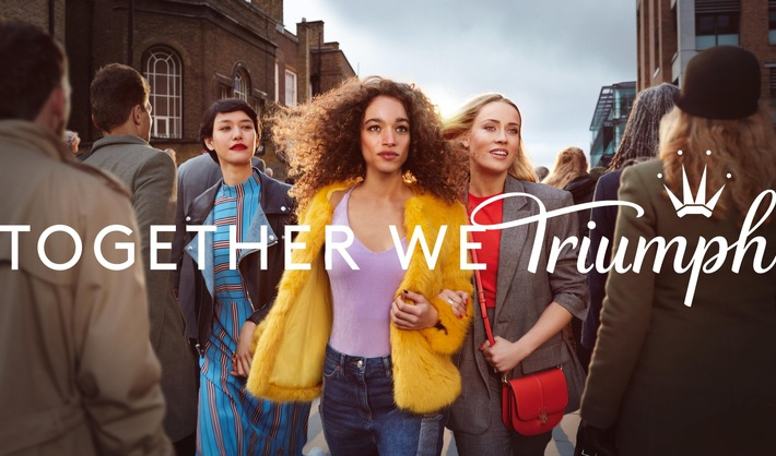 Triumph lanciert erste internationale Kampagne | Together We Triumph / Together We Triumph feiert den Zusammenhalt von Frauen auf der ganzen Welt