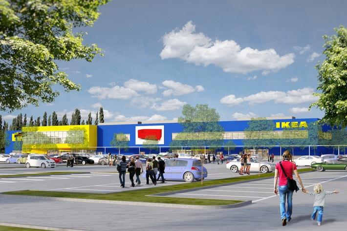 Pressemeldung: IKEA Magdeburg feiert Richtfest - Gute Anbindungen und Nachhaltigkeit im Fokus