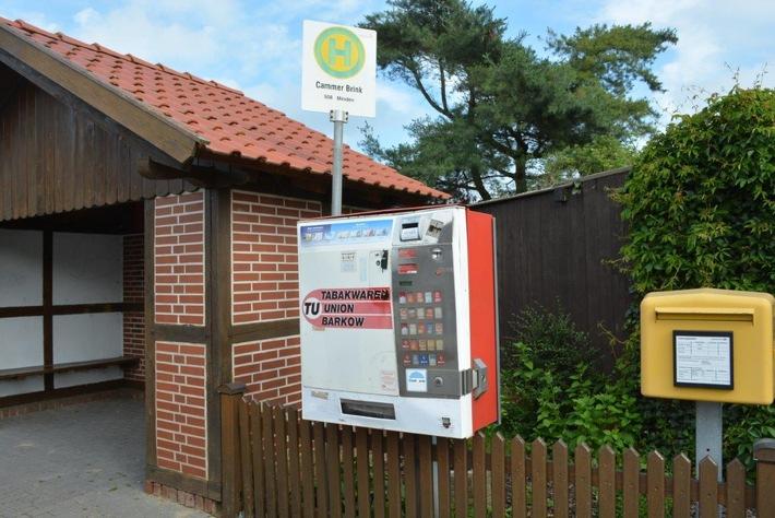 POL-NI: Sprengung eines Zigarettenautomaten misslingt