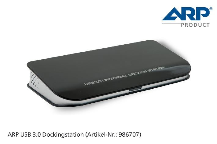 Die neue USB 3.0 Dockingstation von ARP: Aus einem Anschluss werden sieben (BILD)