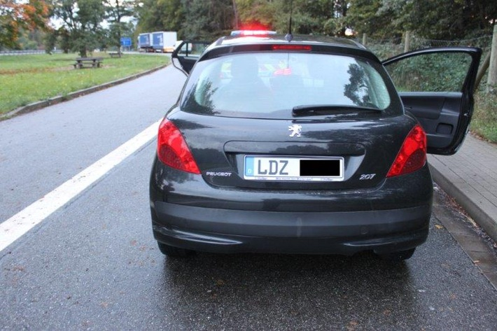 POL-PDKL: A6, Kaiserslautern, Kennzeichen selbst gebastelt