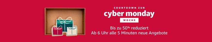 Cyber Monday Woche auf Amazon.de mit mehr Angeboten als je zuvor