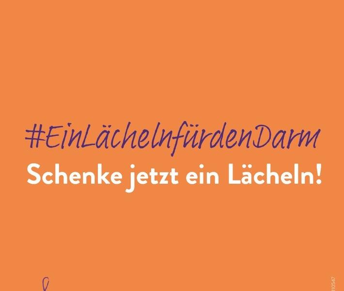 #EinLächelnfürdenDarm / Weiterer Text über ots und www.presseportal.de/nr/102449 / Die Verwendung dieses Bildes ist für redaktionelle Zwecke unter Beachtung ggf. genannter Nutzungsbedingungen honorarfrei. Veröffentlichung bitte mit Bildrechte-Hinweis.
