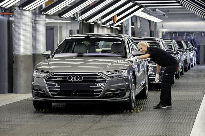 Audi Konzern mit robusten Finanzzahlen nach herausforderndem ersten Halbjahr