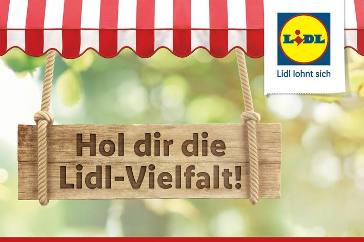 """Lidl erweitert sein Festsortiment und startet mit """"Hol dir die Lidl-Vielfalt!"""" eine neue Marketingkampagne. Lidl Deutschland stellt Qualität und Frische des Sortiments in den Fokus und erweitert das dauerhafte Angebot. Weiterer Text über ots und www.presseportal.de/nr/58227 / Die Verwendung dieses Bildes ist für redaktionelle Zwecke honorarfrei. Veröffentlichung bitte unter Quellenangabe: """"obs/LIDL"""""""