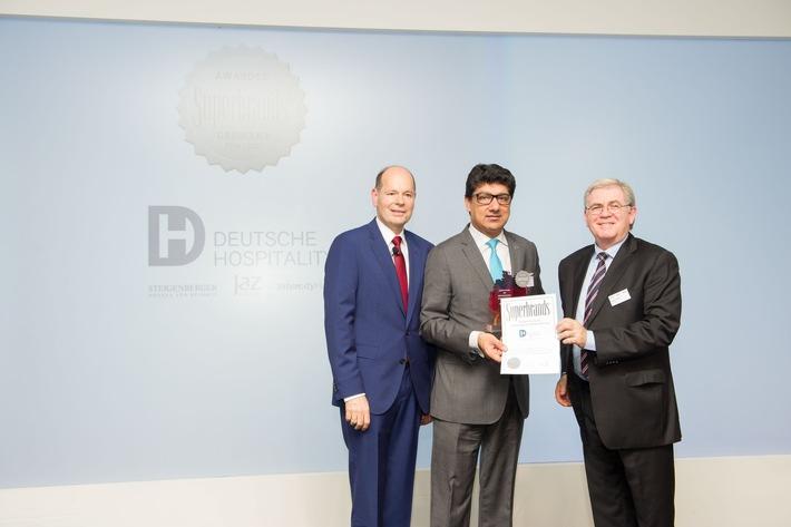 "press release: ""Deutsche Hospitality wins a 'Superbrand Germany' award"""