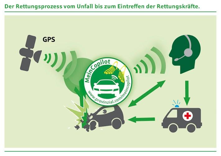 """Digitaler Retter in der Not: Provinzial Rheinland erweitert Unfallmeldedienst / Ab dem 4. April 2016 bietet der Regionalversicherer seinen Kunden den neuen Unfallmeldestecker """"MeinCopilot Smart"""" an"""