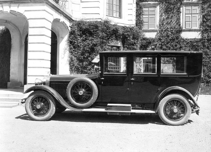 TomᚠGarrigue Masaryk nutzte den SKODA Hispano-Suiza länger als jedes andere Fahrzeug, nämlich von Mai 1926 bis Dezember 1935. / Weiterer Text über ots und www.presseportal.de/nr/28249 / Die Verwendung dieses Bildes ist für redaktionelle Zwecke unter Beachtung ggf. genannter Nutzungsbedingungen honorarfrei. Veröffentlichung bitte mit Bildrechte-Hinweis.