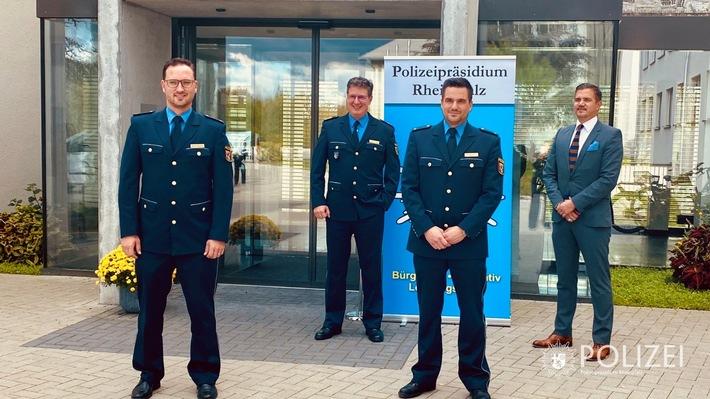 Stephan Weber neuer Leiter der Zentralen Bußgeldstelle und Kristof Brockmann neuer Leiter der Polizeiinspektion Speyer