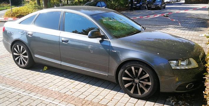 grauer Audi A6 des Veerbrechensopfers