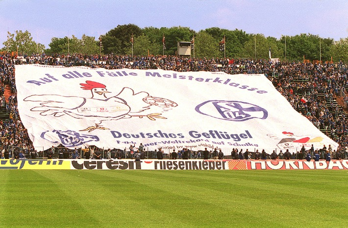 firo Fußball:       19.5.2001 Bundesliga.           Schalke - Unterhaching  5:3 Copyright by firo sportphoto: Dickmannstr.2-4 45143 Essen E Mail:FiroPhoto@aol.com tel.:0201/629355 Fax.:0201/629374