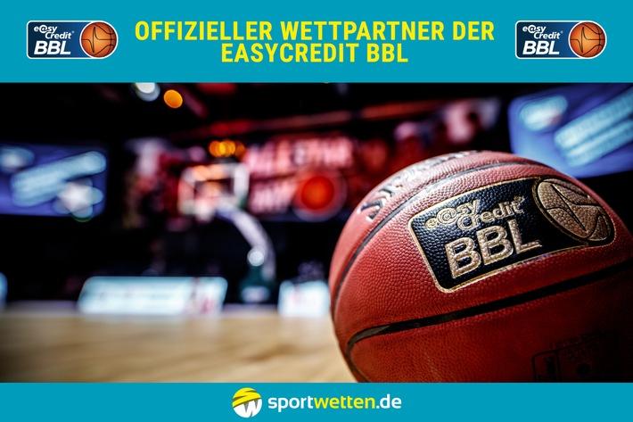 "sportwetten.de wird offizieller Wettpartner der easyCredit BBL. Weiterer Text über ots und www.presseportal.de/nr/129232 / Uporaba te slike je prost za redakcijo. Navedite vir: ""obs/sportwetten.de"""